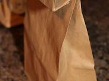 Fold top down 2 turns and shake bag.