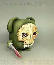 """Photo: """"Who Are You Calling UGLY?"""" Custom Funko POP! 4"""" vinyl Uglydoll (OX.) My second custom for the Vinyl Thoughts show at Bottleneck Gallery. Available at the gallery or at http://www.bottleneckgallery.com/collections/unmasked-vinyl-toys/products/infinite-rabbits-who-are-you-calling-ugly"""