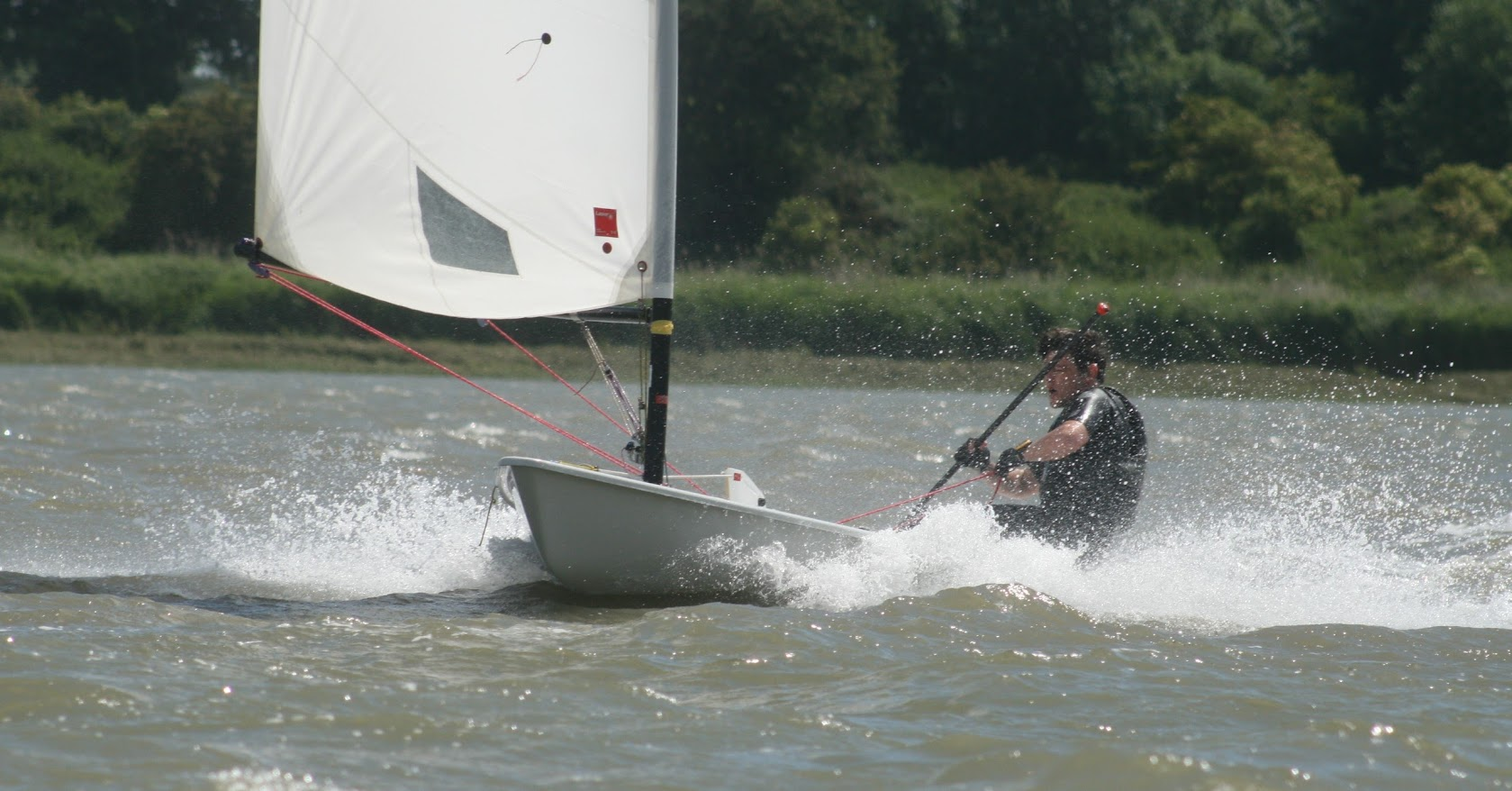 Laser racing at Waldringfield