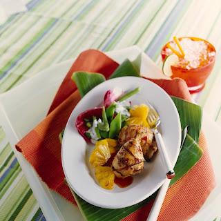Marinierte Hähnchenkeulen mit Ananas