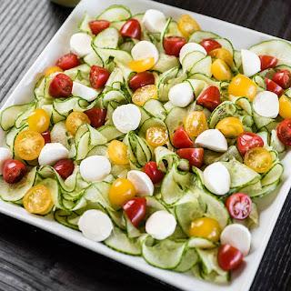 Spiralizer Cucumber Caprese Salad.
