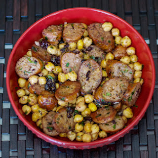 Greek Style Sausage & Chick Peas Recipe