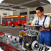 Bus Mechanic Garage - Engine Overhaul Repair Shop