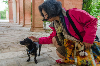 Photo: Irene with Pepe, who belongs to Quinto (the groundskeeper) and his wife, Adriana (the housekeeper).  Pepe had problems with his back legs that required multiple surgeries.