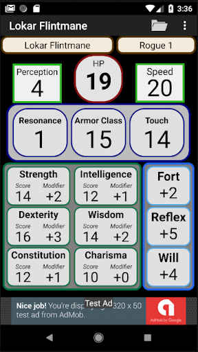 Second Edition Character Sheet 0.97f screenshots 1