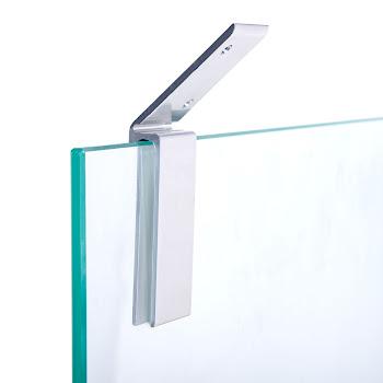 Fixation paroi de douche 5 / 6 mm, pour combles et soupentes, coloris aspect chromé