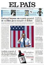 Photo: En la portada de EL PAÍS del sábado 8 de septiembre: Portugal impone un recorte general de sueldos; El Gobierno asume que Garoña cerrará en 2013; Arranca la campaña electoral en EE UU; en Revista de Sábado: Angela Merkel fue una chica divertida; y en Babelia: Miquel Barceló, viaje iniciático al Himalaya. http://srv00.epimg.net/pdf/elpais/1aPagina/2012/09/ep-20120908.pdfp