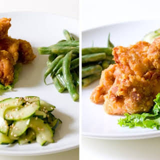 Japanese Fried Chicken and Two Simple Salads.
