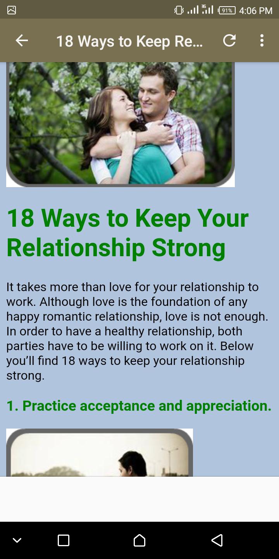 Скриншот 18 Ways to Keep Relationship