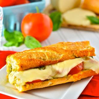 Basil Pesto Caprese Sandwiches