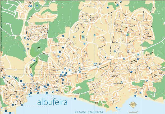 Mapa Cidade de Albufeira
