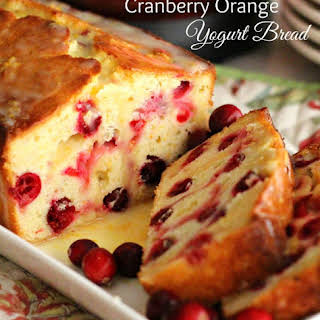 Cranberry Orange Yogurt Bread.