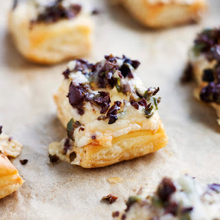 Olive and Gruyere Puff Pastry Tartlets.