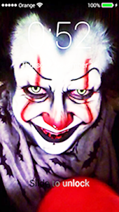 Scary pennywise app lock - náhled
