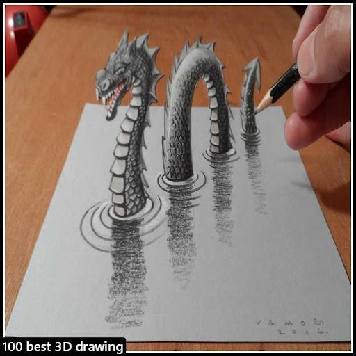 100 best 3D drawing