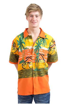 Hawaiiskjorta, orange