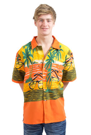 Hawaiiskjorta, orange