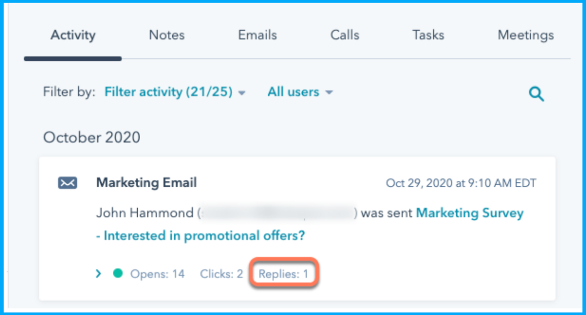 Marketing Email Replying Tracking