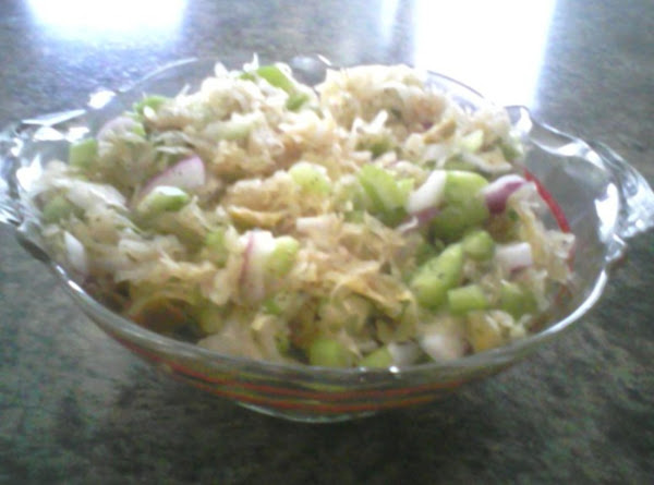 Overnight Sauerkraut Salad Recipe