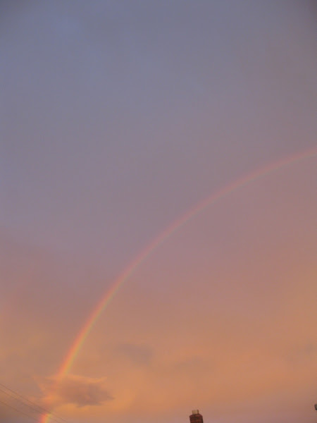 Photo: Double Rainbow by my house.
