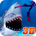 Angry Electro Shark 3D icon