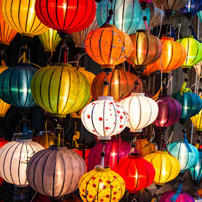 Lanterns by Richard Ryan - Artistic Objects Other Objects ( lights, hoi an, hanging lanterns, coulourful, light, lanterns, colours, mood factory, color, lighting, moods, colorful, bulbs, mood-lites,  )