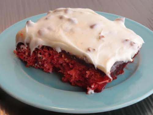 """Cherry-berry cake """"The berry icing is amazing! And the cake recipe is..."""