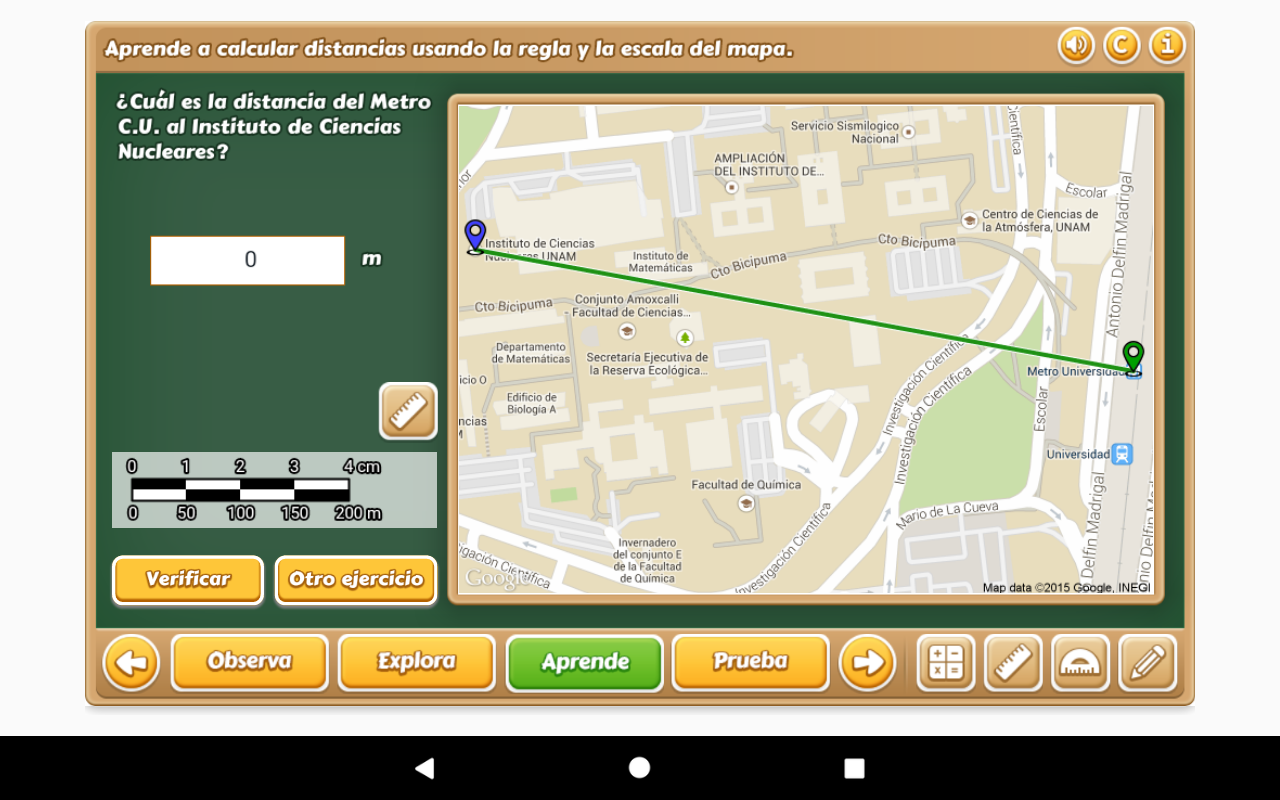 Distancia en Mapas 6° Primaria- screenshot