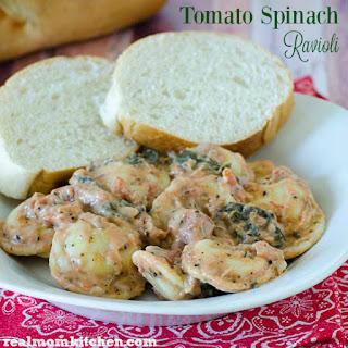 Tomato Spinach Ravioli