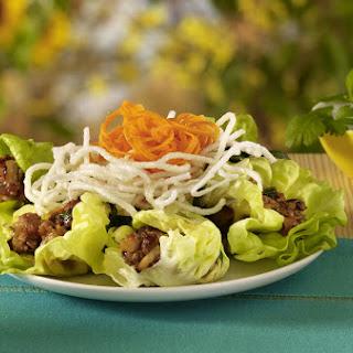Lettuce Chicken Wraps.