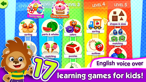 FunnyFood Kindergarten learning games for toddlers  screenshots 1