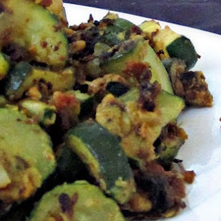 Zucchini With Besan (Chickpea) Flour.