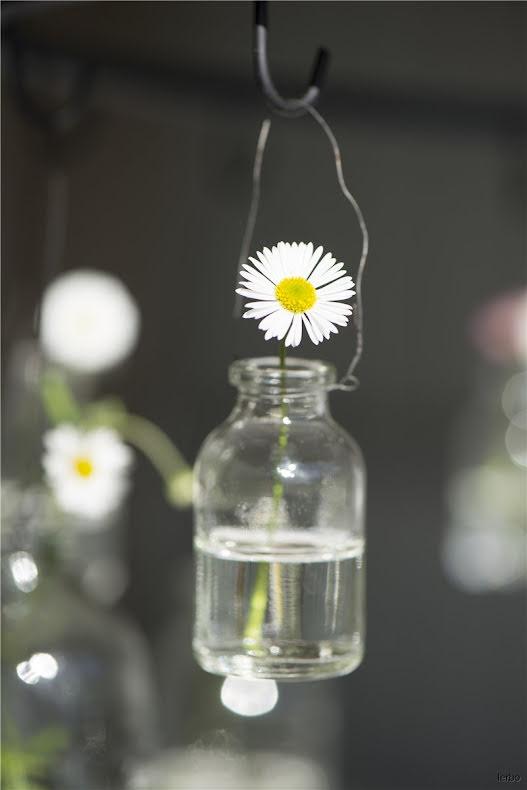 Flaska mini med svart upphängning Ib Laursen