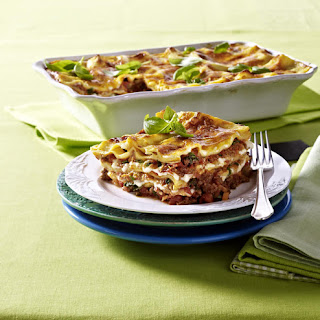 Lasagne with Cheddar Cheese.