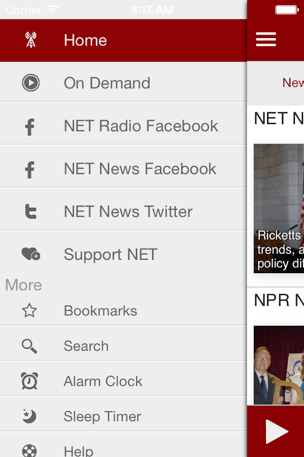NET Radio Nebraska App- screenshot