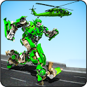Flying Helicopter Robot Transform War Robot Hero icon