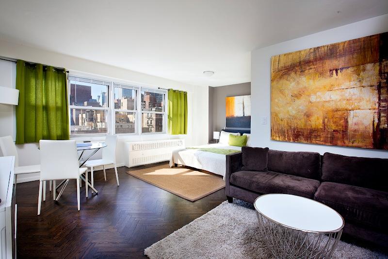 Living area at Manhattan apartment