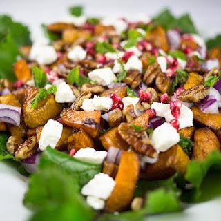 Sweet Potato & Feta Salad with Pomegranate & Pecans.