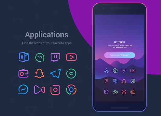 Screenshot for Linebit - Icon Pack in Hong Kong Play Store