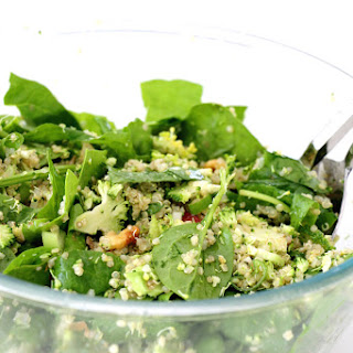 Shredded Broccoli And Spinach Quinoa Salad