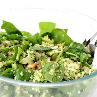 Shredded Broccoli And Spinach Quinoa Salad.