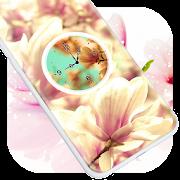 Magnolia Clock Live Wallpaper