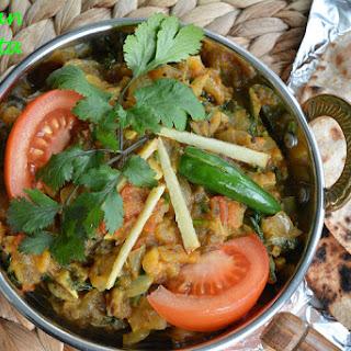 Baingan Bharta or Mashed Eggplant