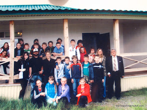 Photo: group photo with the school kids...this is a picture of the printout Vladimir gave me