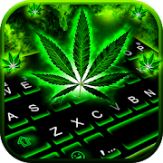 Neon Rasta Weed Keyboard Theme