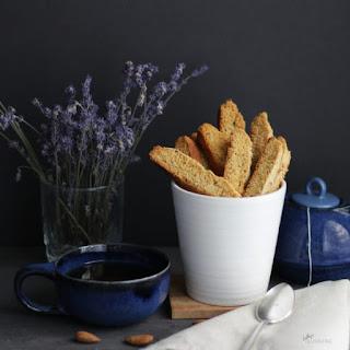 Gluten Free Lavender Biscotti.