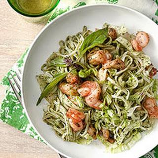 Thai Pesto with Rice Noodles & Shrimp