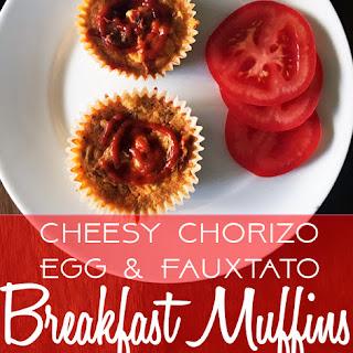 Cheesy Chorizo Egg & Fauxtato Breakfast Muffins – Low Carb Keto.