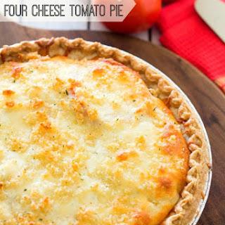Crumb Topped Four-Cheese Tomato Pie Recipe