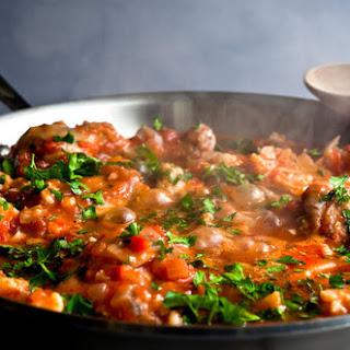 Greek Chicken Stew With Cauliflower and Olives